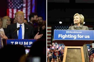 Trump and Clinton Cropped